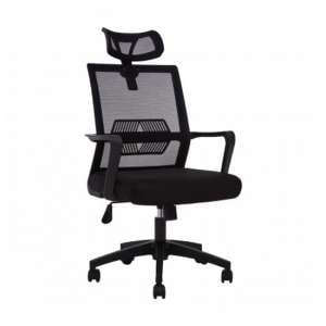 Wivon Rolling Home And Office Fabric Chair In Black