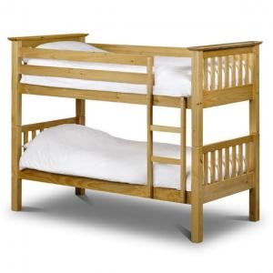Solid Pine Kids Bunk Bed with Ladder