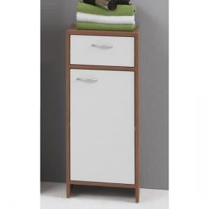Madrid2 Bathroom Floor Cabinet In Plumtree And White With 1 Door