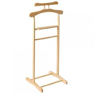 Wooden Clothes Valet Stand in natural