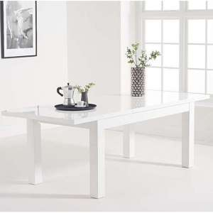 Worrel Wooden Extending Dining Table In White High Gloss
