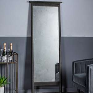 Wycombe Cheval Dressing Mirror In Black