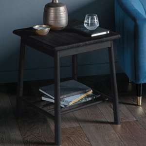 Wycombe Wooden Side Table In Black