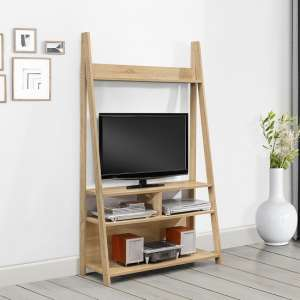 Yoder Wooden Entertainment Unit In Oak Finish