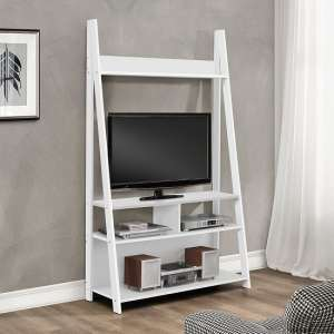 Yoder Wooden Entertainment Unit In White Finish