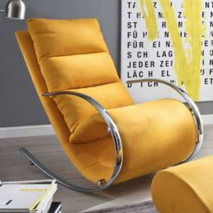 York Fabric Recliner Chair In Yellow