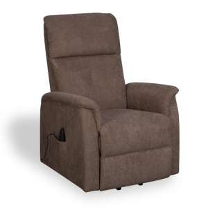 Yorke Fleck Effect Fabric Recliner Chair In Carob