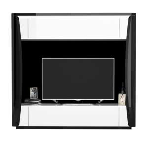 Zaire LED Entertainment Unit In Black And White High Gloss
