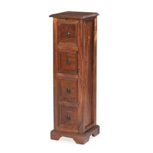 Zander Wooden CD DVD Unit In Sheesham Hardwood