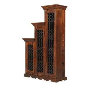 Zander Wooden Left Step CD DVD Unit Tall In Sheesham Hardwood