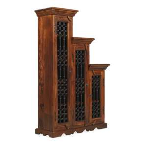 Zander Wooden Right Step CD DVD Unit Tall In Sheesham Hardwood