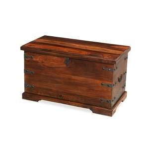 Zander Wooden Storage Trunk In Sheesham Hardwood