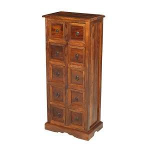 Zander Wooden CD DVD Storage Almirah In Sheesham Hardwood