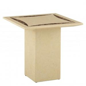 Zantos Contemporary Marble Lamp Table Square In Cream
