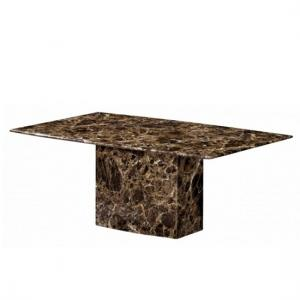 Zelder Marble Coffee Table Rectangular In Brown