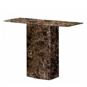 Zelder Marble Console Table Rectangular In Brown