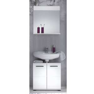Zenith Bathroom Furniture Set 7 In White With High Gloss Fronts