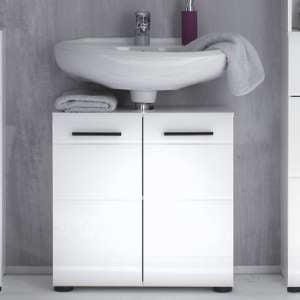 Zenith Bathroom Vanity Unit In White With Gloss Fronts