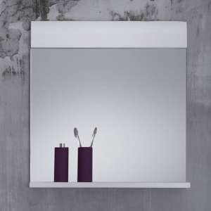Zenith Bathroom Wall Mirror In White With Gloss Fronts