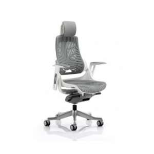 Zeta Executive Office Chair In Elastomer Grey