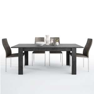 Zinger Wooden Extending Dining Table With 6 Mexa Brown Chairs